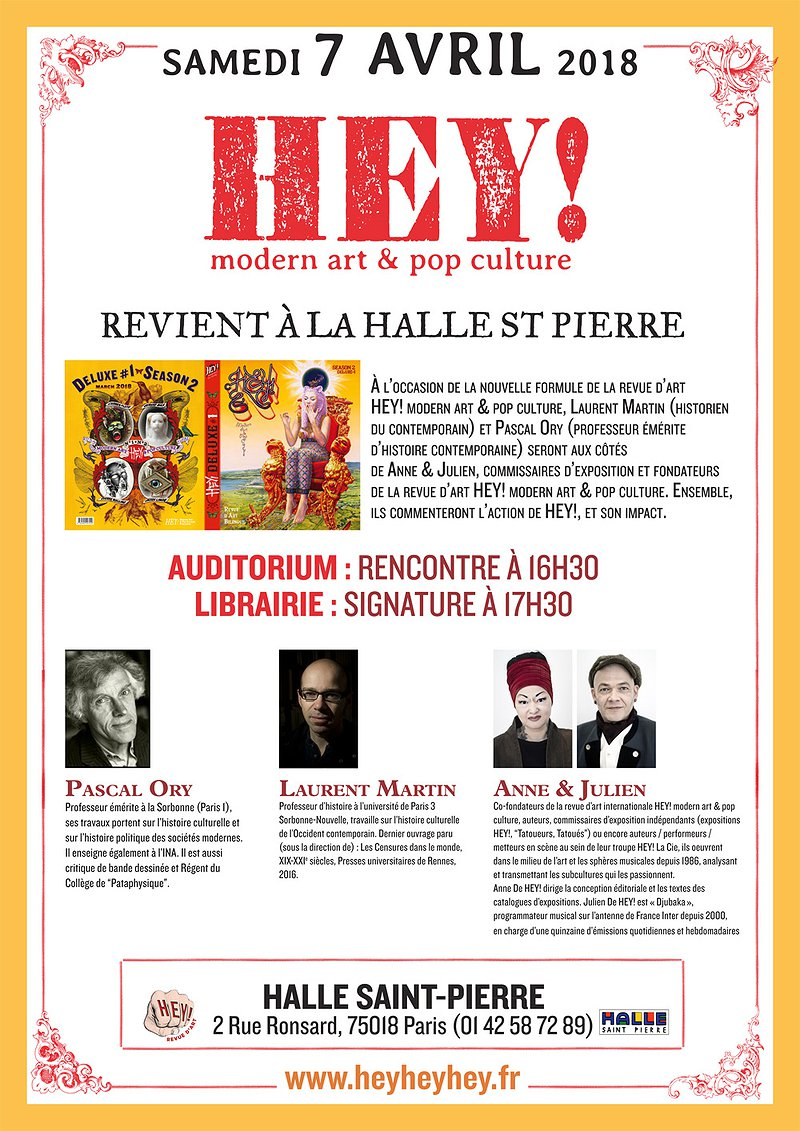 HEY! is back to Halle Saint Pierre